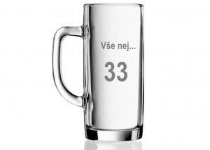 broušený půllitr k 33. - kristovým narozeninám