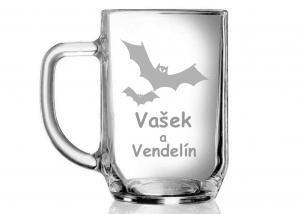 dárkový půllitr s obrázkem netopýra pro taťku Václava