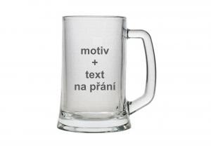 pivní třetinková sklenice s motivem