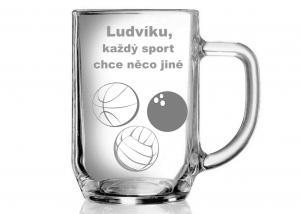 vtipný sportovní pohár pro sportovce