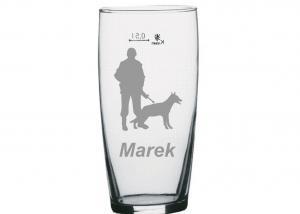půllitr s obrázkem psovoda pro policistu, vojáka Marka