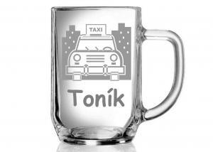 půllitr s motivem taxi pro taxikáře Tondu