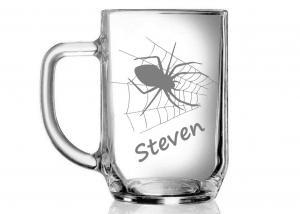 půllitr s pavoukem - dárek pro štěstí
