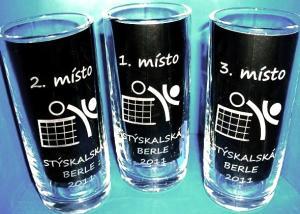 sklenice na pivo jako sportovní turnajové poháry