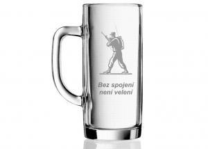 pivní sklenice pro vojáka - velitele - spojaře
